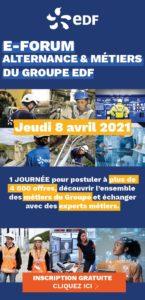 Rendez-vous le 8 avril pour le e-forum du groupe EDF dédié à l'alternance